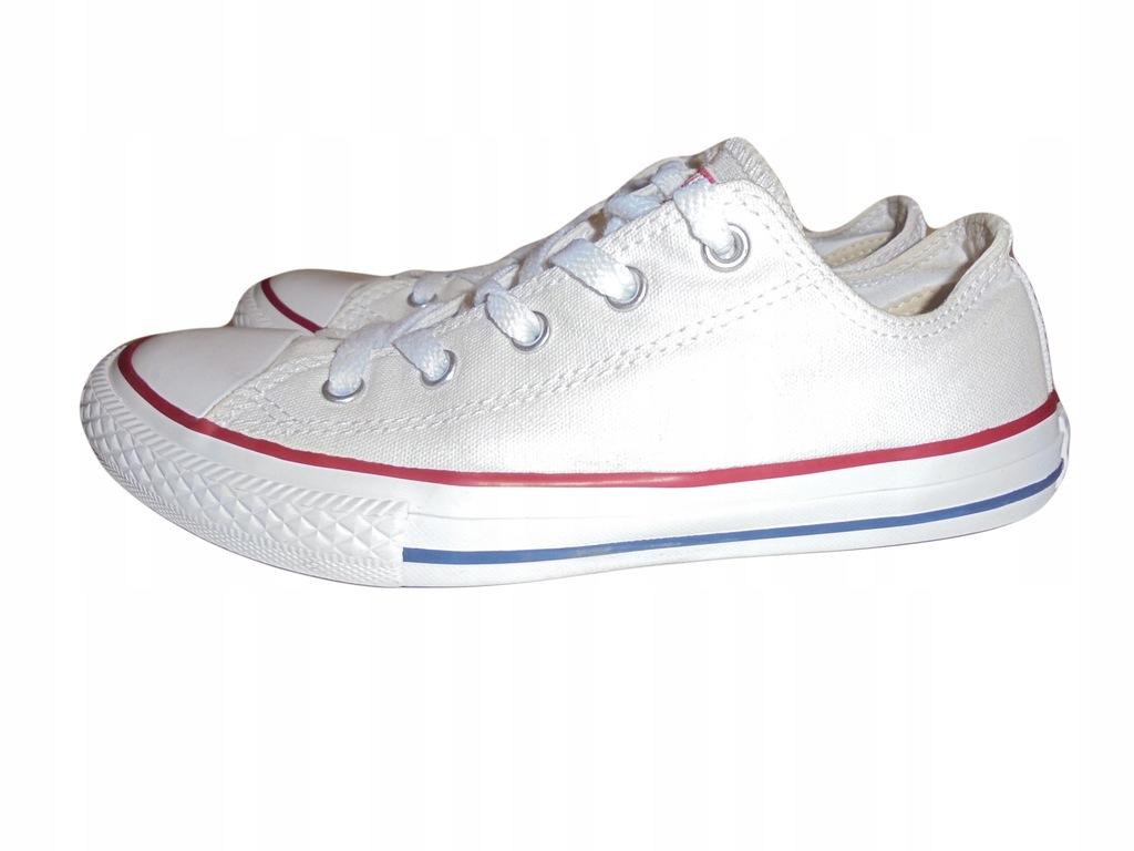 Białe tampki Converse, Stan idealny. Rozmiar 35.