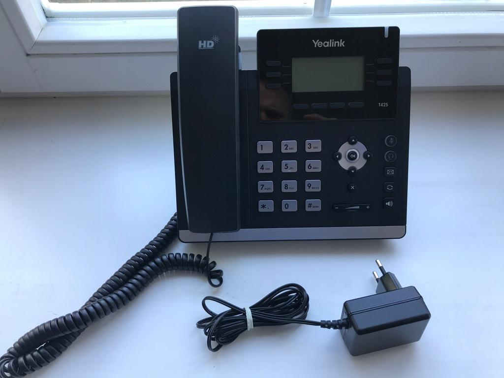 Telefon VOIP Yealink SIP-T42S, dzwięk HD