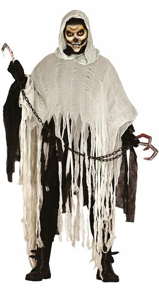 Postrzępiona tunika z kapturem na Halloween party