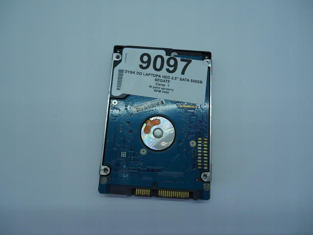 "DYSK LAPTOP HDD 2,5"" SATA 500GB SEGATE (9097)"