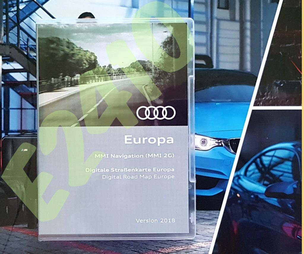 MAPA nawigacji Audi MMI2G 2018 A6 C6 Q7 A8 A5 A4