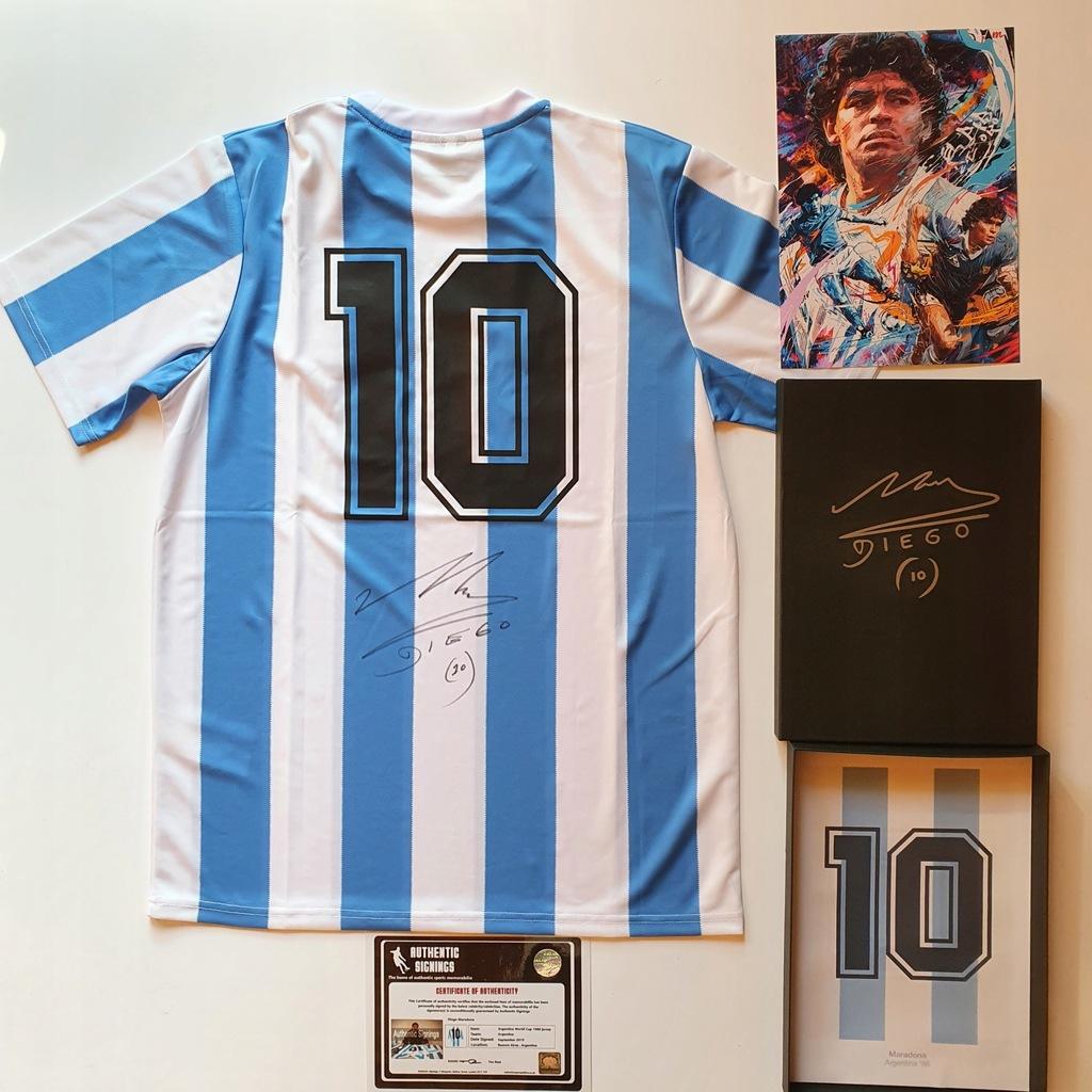 Maradona, Argentyna - koszulka z autografem (zag)