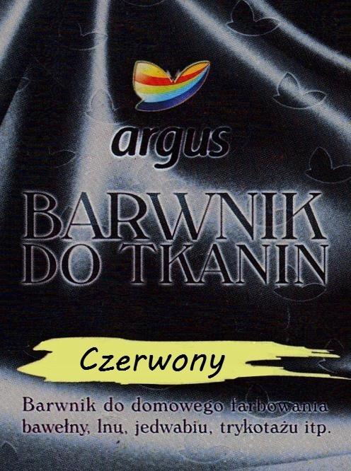 Barwnik do tkanin Argus do gotowania CZERWONY