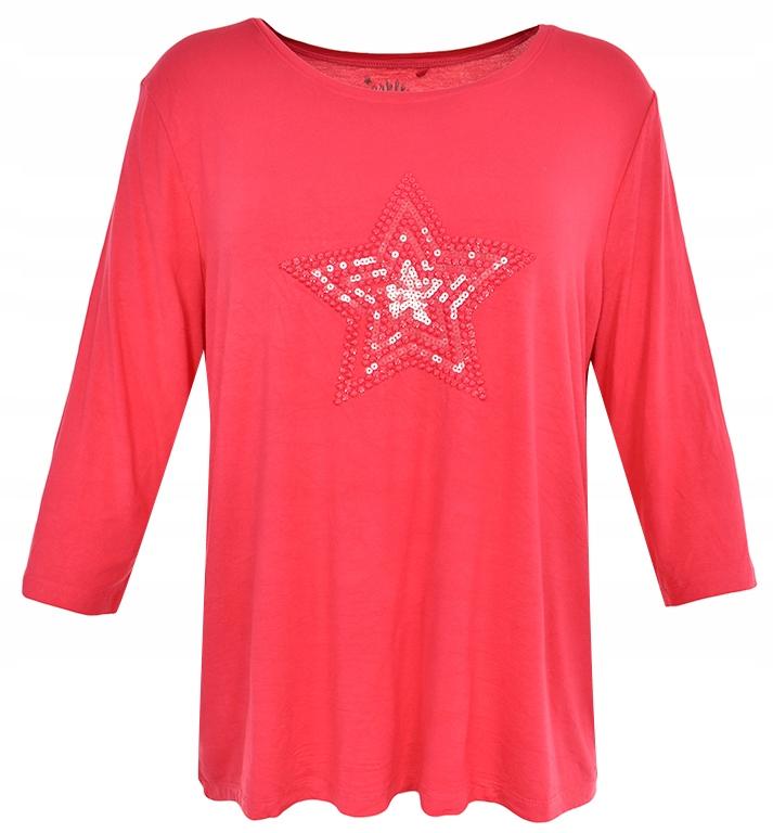 oAT1151 C&A czerwona bluzka z gwiazdą 48