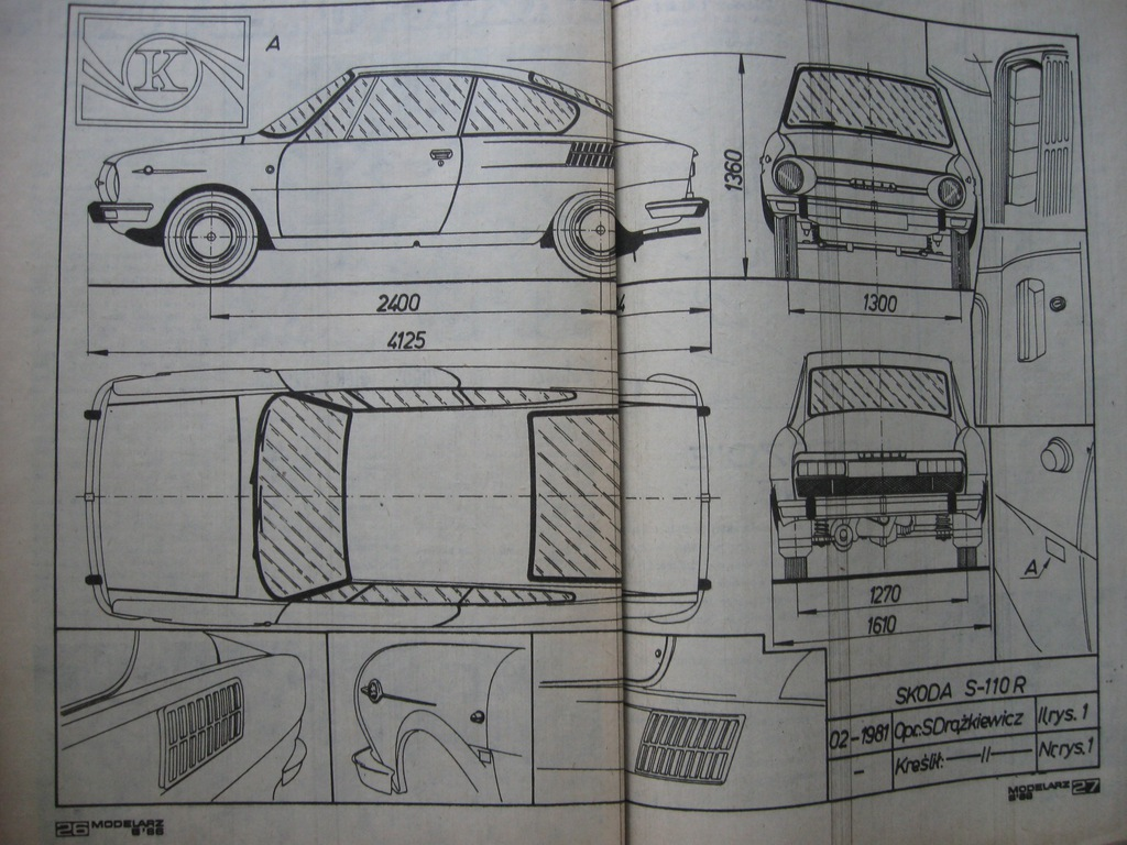 MODELARZ Skoda S-110 R Plan 1986
