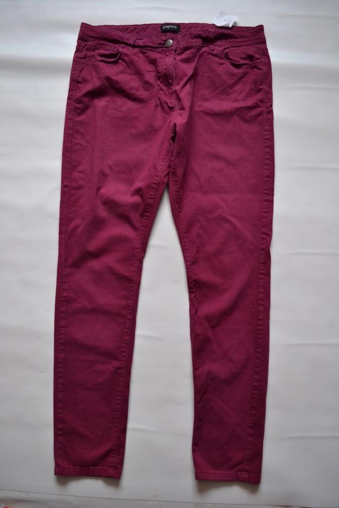 743#papaya skinny z jeansu elastan rozm 44/46