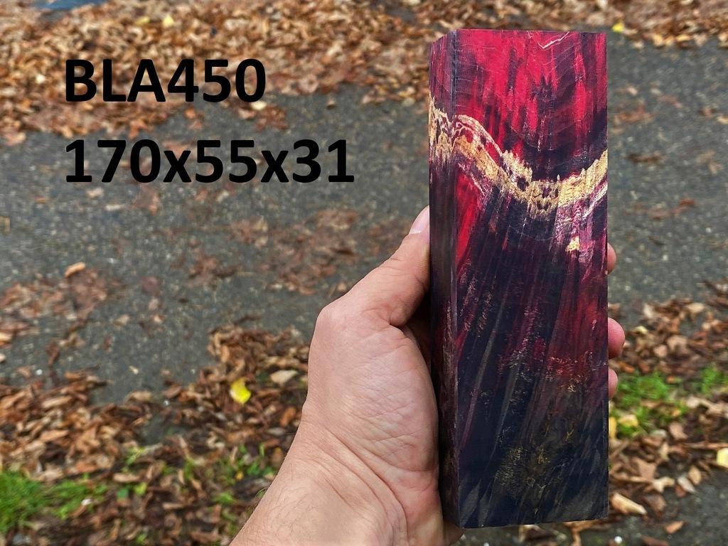 Drewno stabilizowane bloczek knifemaking BLA450