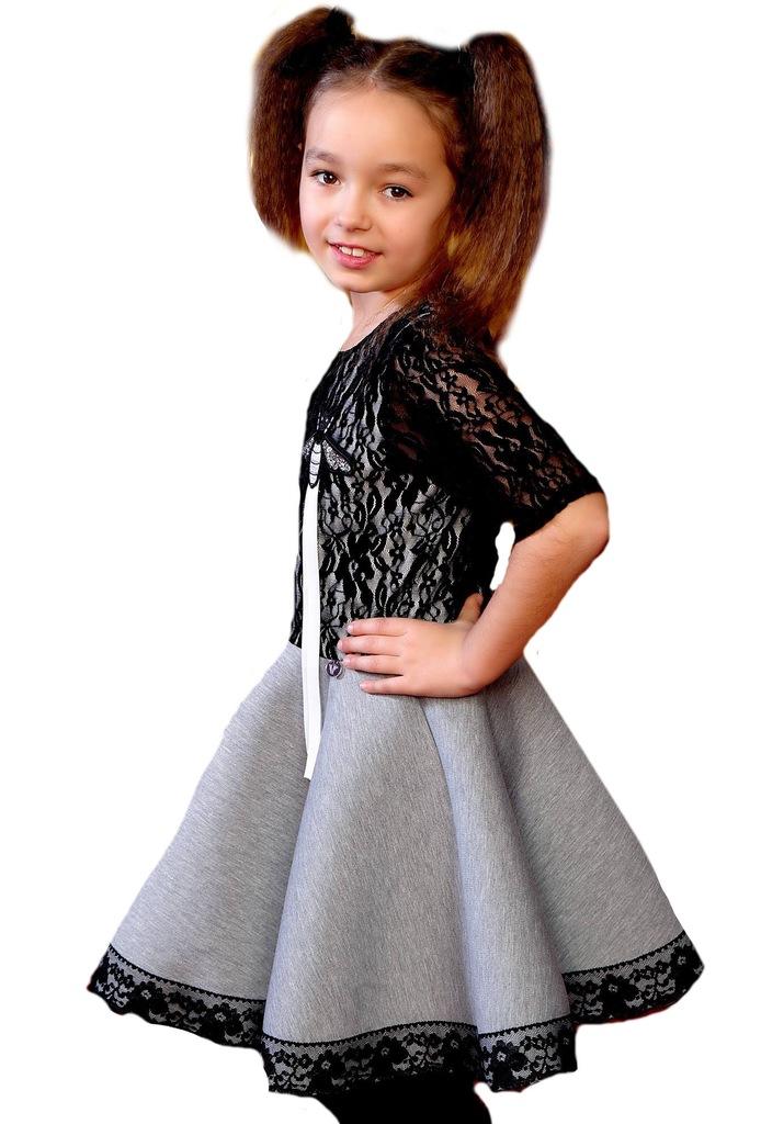 Sukienka wizytowa koronka Kids by voga 98-104