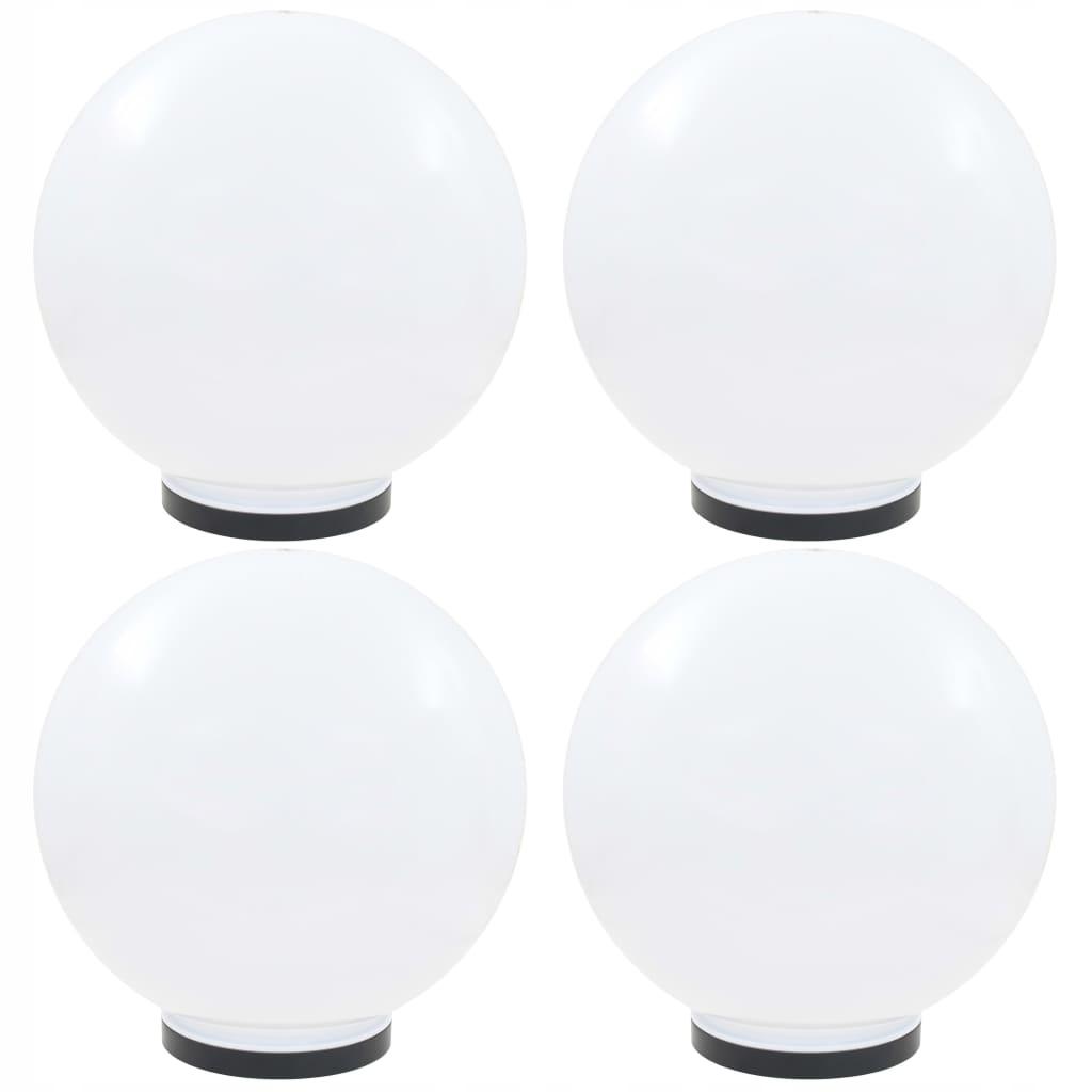 Lampy ogrodowe LED, 4 szt., kuliste, 40 cm, PMMA