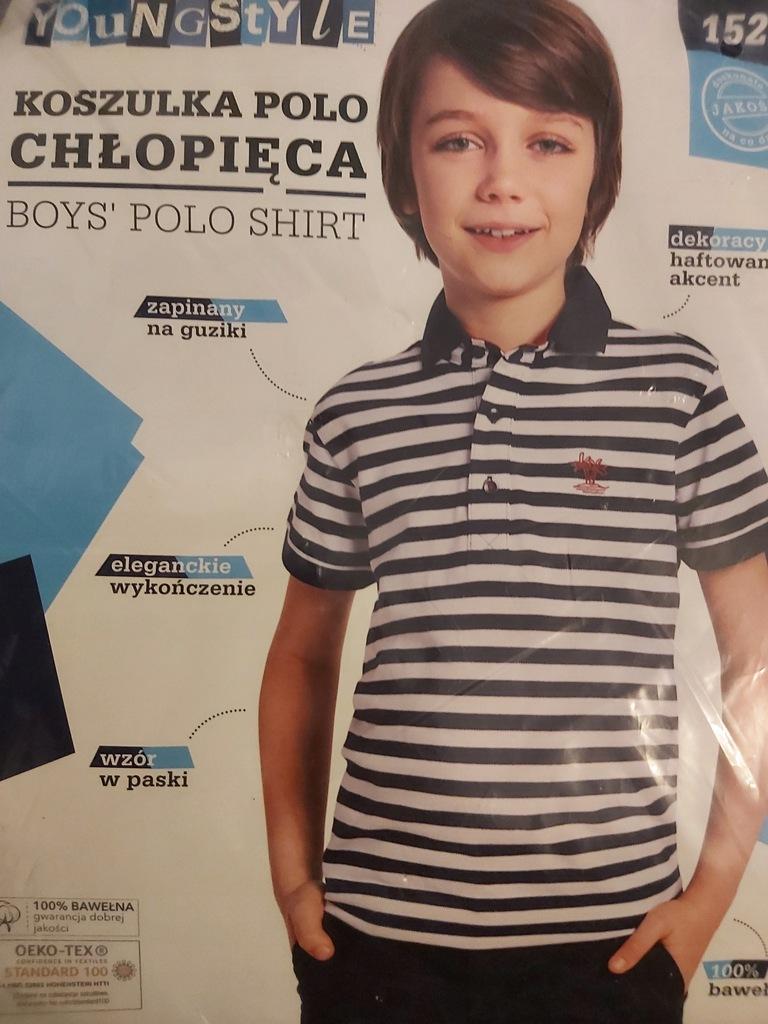 Koszulka polo chłopięca rozmiar 152 youngstyle