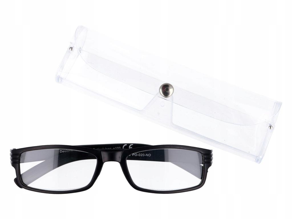 Meskie Okulary Do Czytania Czarne Plusy 1 00 7620268837
