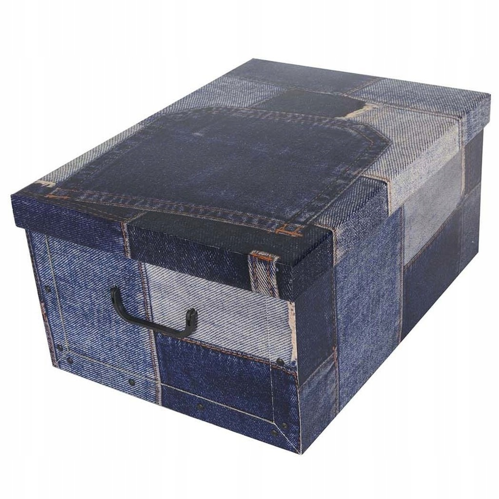 Pudełko kartonowe MAXI PATCHWORK - JEANS