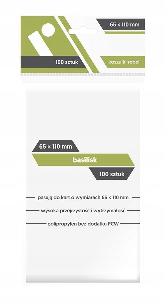 KOSZULKI BASILISK 65X110 (100SZTUK) REBEL, REBEL