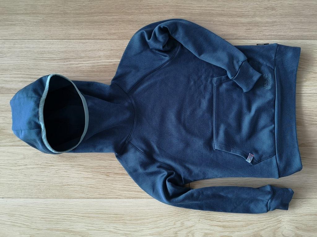 Jack WOLFSKIN r.140/146 NANUK Dynamic bluza szafir