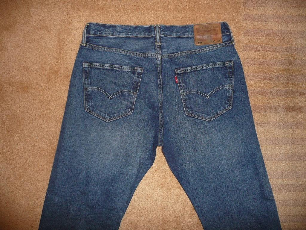 Spodnie dżinsy LEVIS 501 W33/L32=43,5/108cm jeansy