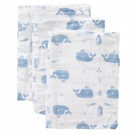 Fresk myjki zestaw 3 szt. wieloryb blue fog FRESK