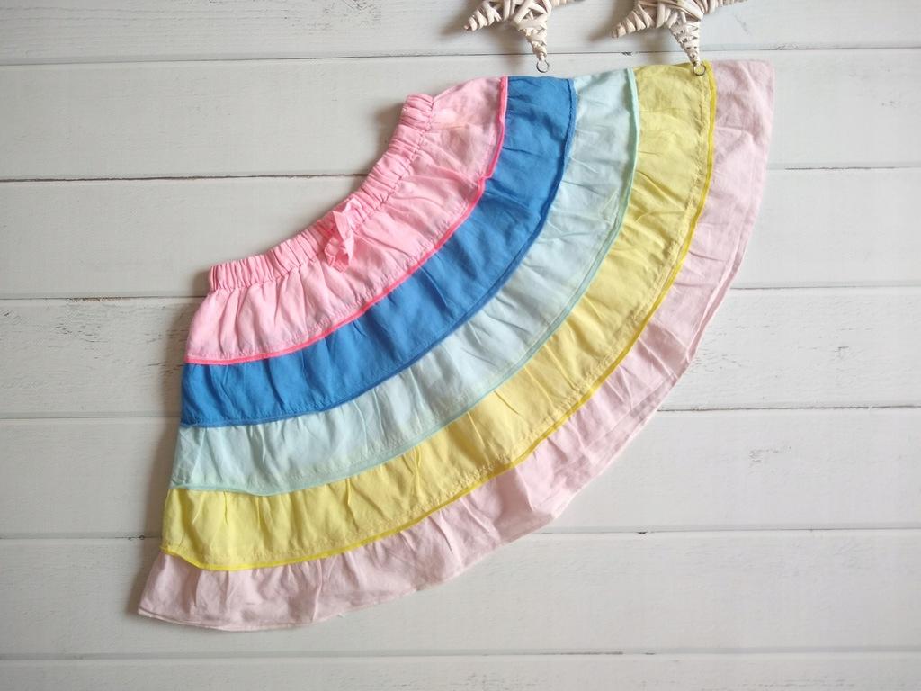 TU spódniczka letnia pastelowe pasy 116
