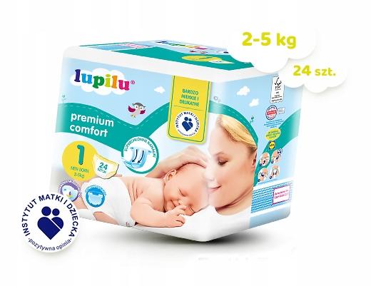 Pieluszki Lupilu 1 New Born 2-5kg 24 sztuki