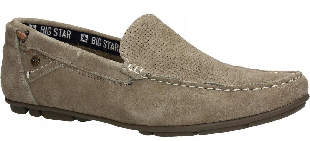 Mokasyny BIG STAR AA174195 beżowe beżowy r. 44
