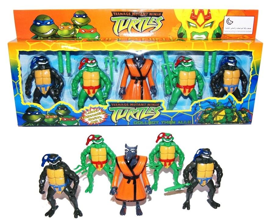 Wojownicze Zolwie Ninja Turtles 5x Figurki Zestaw 7131565355 Oficjalne Archiwum Allegro