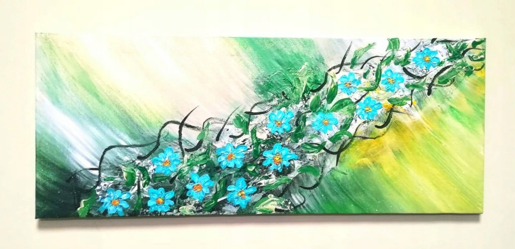 Obraz ręcznie malowany na płótnie. Akryl Abstrakcj