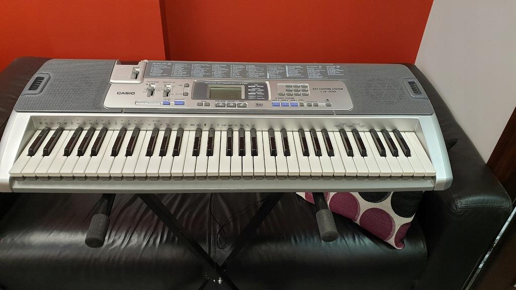 CASIO Keyboard LK-100+ zasilacz+ statyw+ nuty (HB)