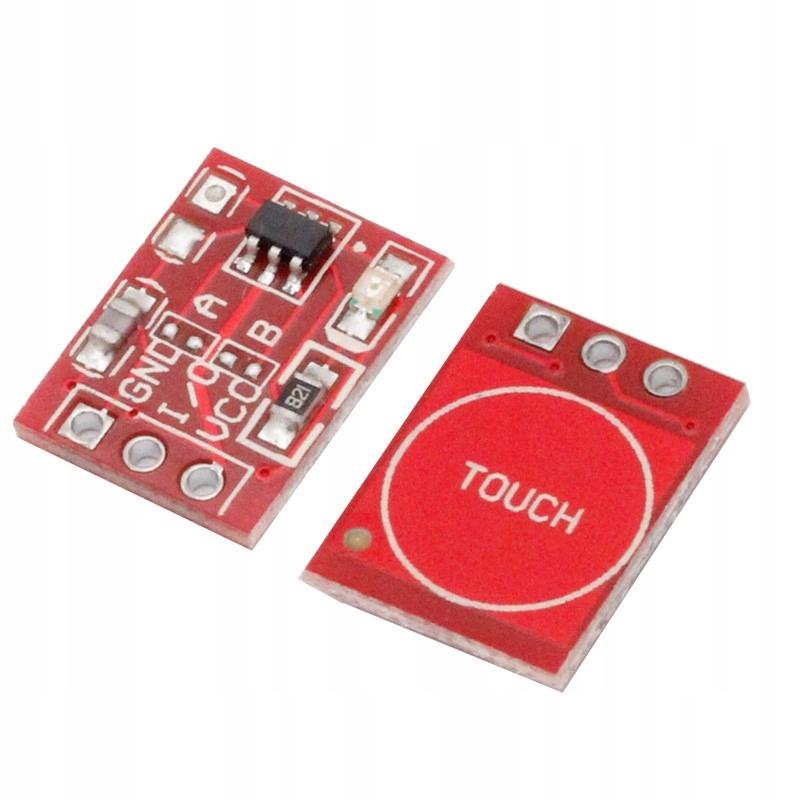 Przycisk dotykowy pojedynczy TTP223 14x11mm - Touc