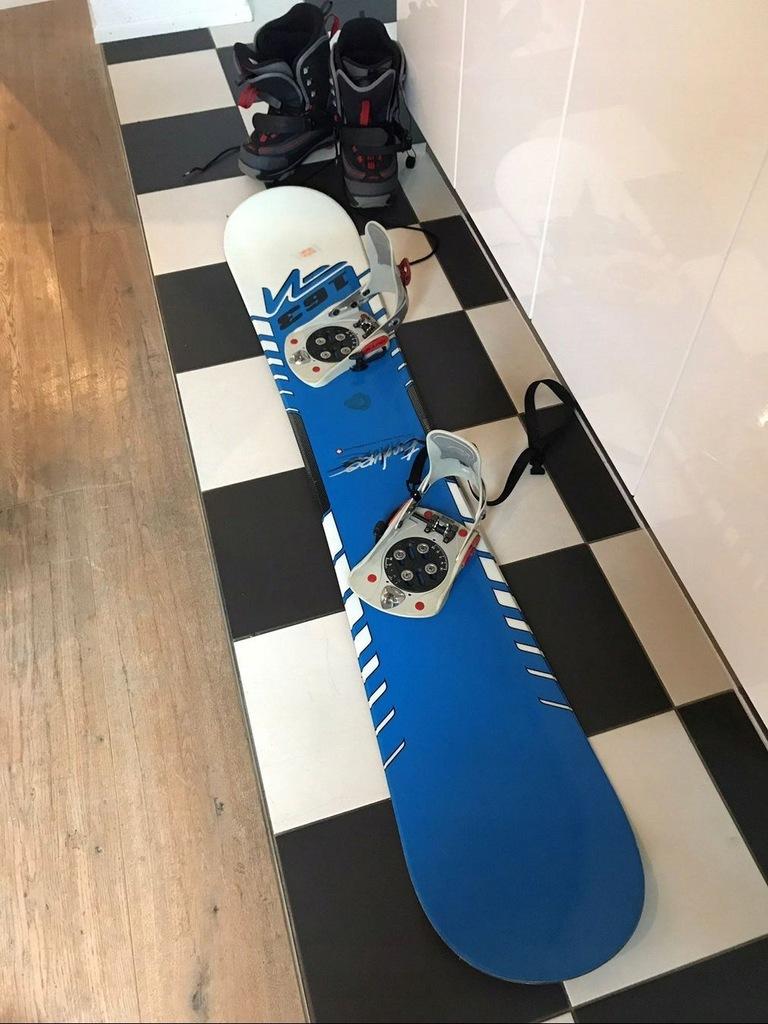 Snowboard Nidecker Deska Snowboardowa 163+Wiązania