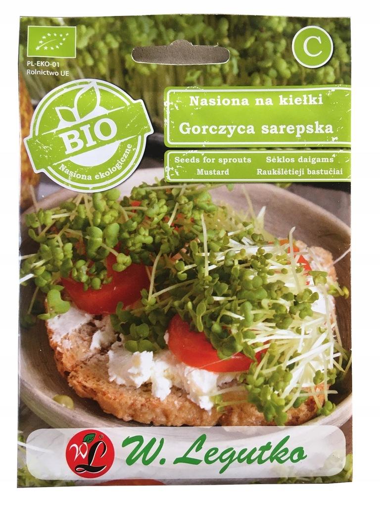 BIO nasiona na kiełki Gorczyca sarepska 5g Legutko
