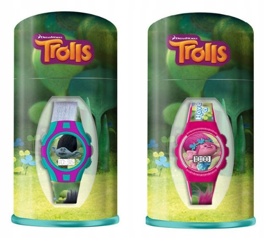 Zegarek na rękę w pudełku metalowym Trolle - losow