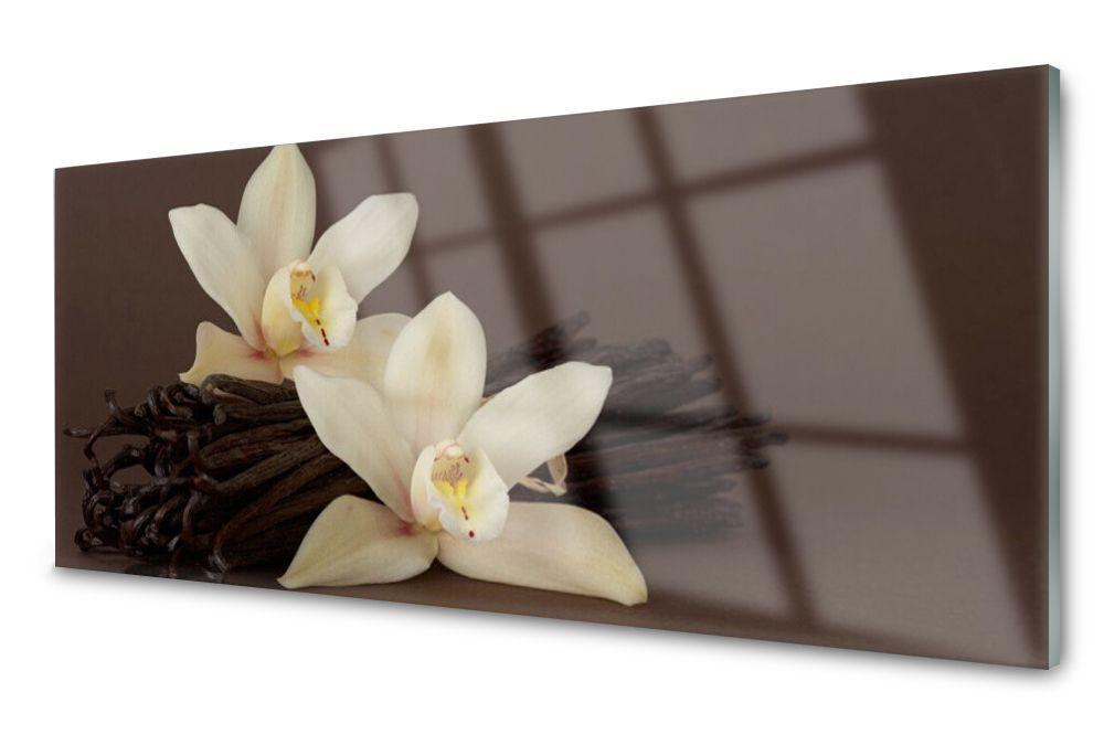 Lacobel Panel Szklany Ścienny Kwiaty Wanilii 25x50