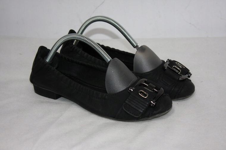 GRACELAND wygodne buty baleriny z klamrą 38 bdb
