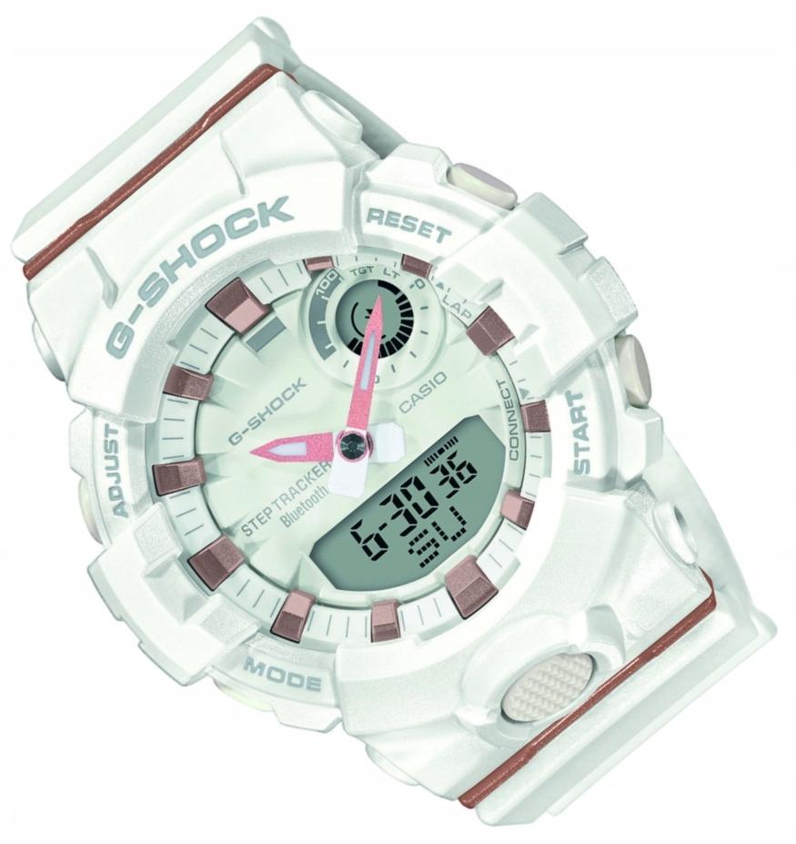 Biały zegarek Casio G-Shock GMA-B800 Bluetooth