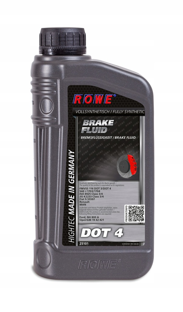 ROWE HIGHTEC BRAKE FLUID DOT 4 1 L GM 19 42 421