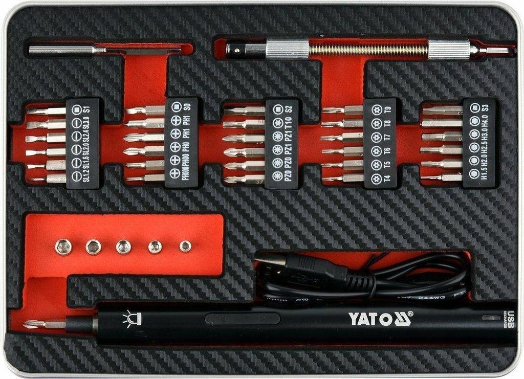 YATO WKRĘTAK PRECYZYJNY AKU 3,6V Z BIT 39szt.