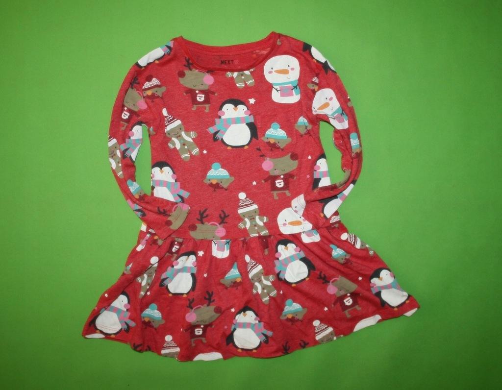 NEXT śliczna świąteczna sukienka 86-92 TUNIKA