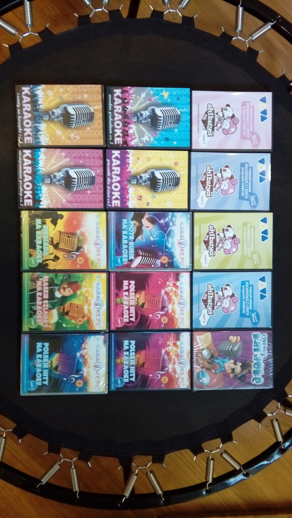 Karaoke na DVD ZESTAW 15 płyt ponad 200 piosenek