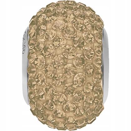 Swarovski BeCharmed Pavé Bead Crystal Golden GSHA