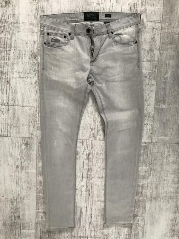SUPERDRY * SPODNIE jeans męskie RURKI W34L32