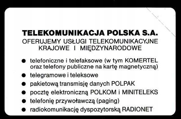 KARTA TELEFONICZNA - NOWA 50 imp