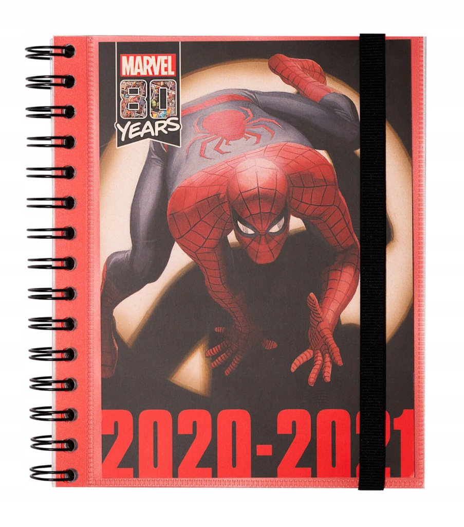Marvel Spider Man dziennik A5 kalendarz 2020-2021