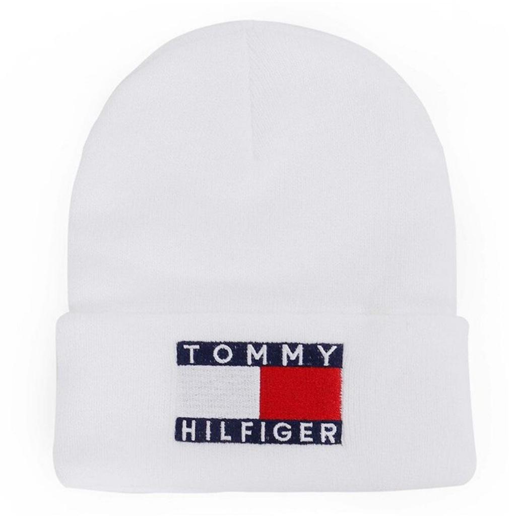 Czapka zimowa Tommy Hilfiger biała