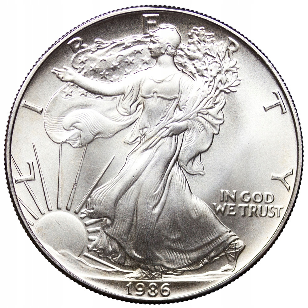 USA 1 Dolar 1986, Amerykański Orzeł, Stan 1/1-