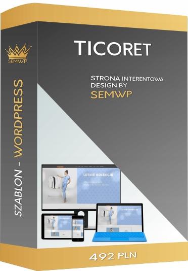 Szablon CMS WordPress Strona Internetowa Ticoret