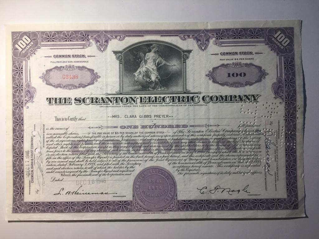 THE SCRANTON ELECTRIC COMPANY - 1946