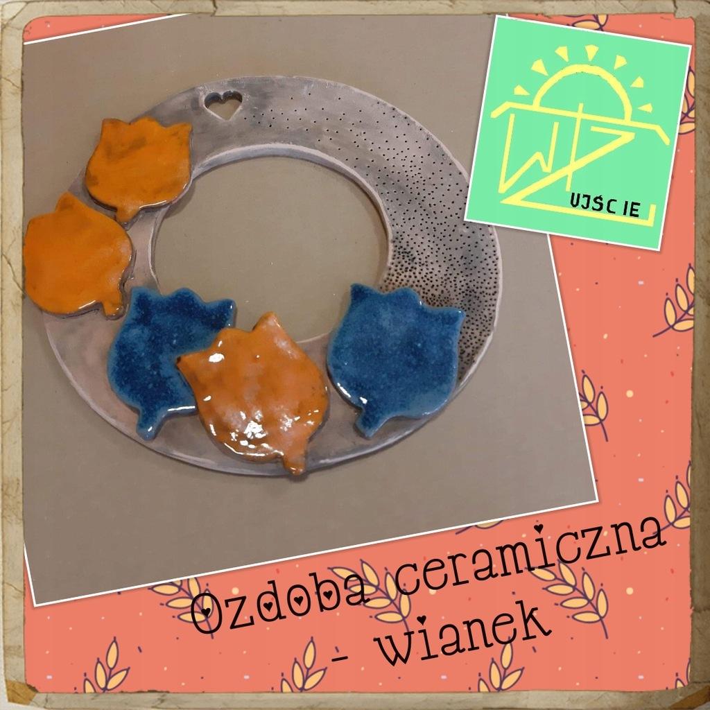 Ozdoba ceramiczna WIANEK