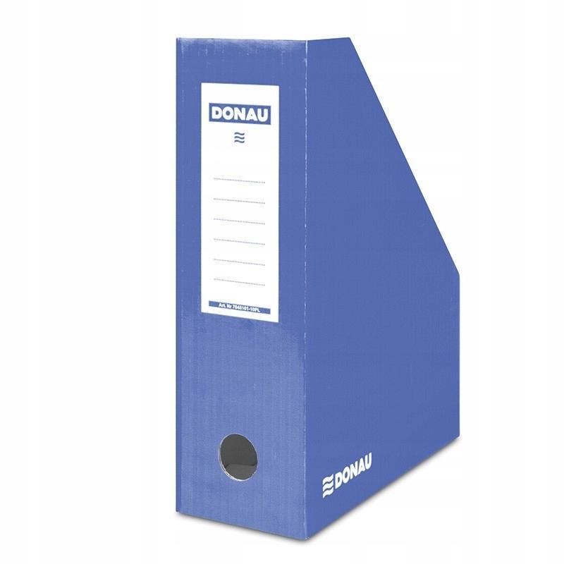Pojemnik na dokumenty karton A4/100mm niebieski