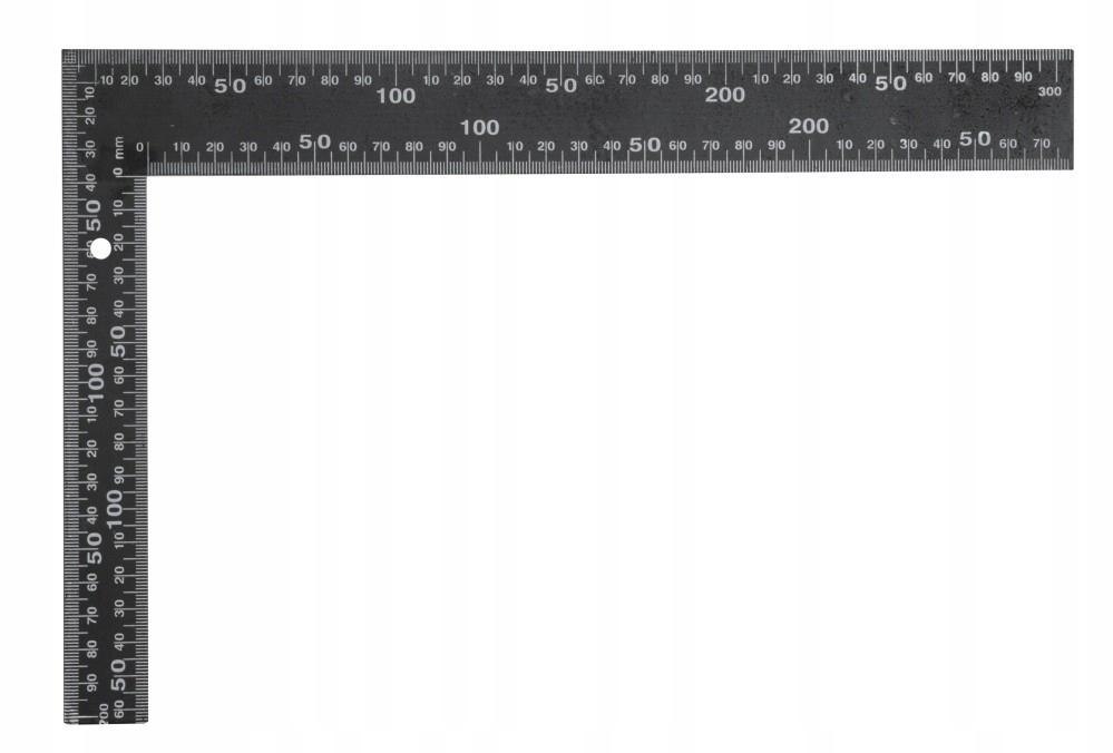 Kątownik metalowy czarny 300x200 mm 18201 Vorel