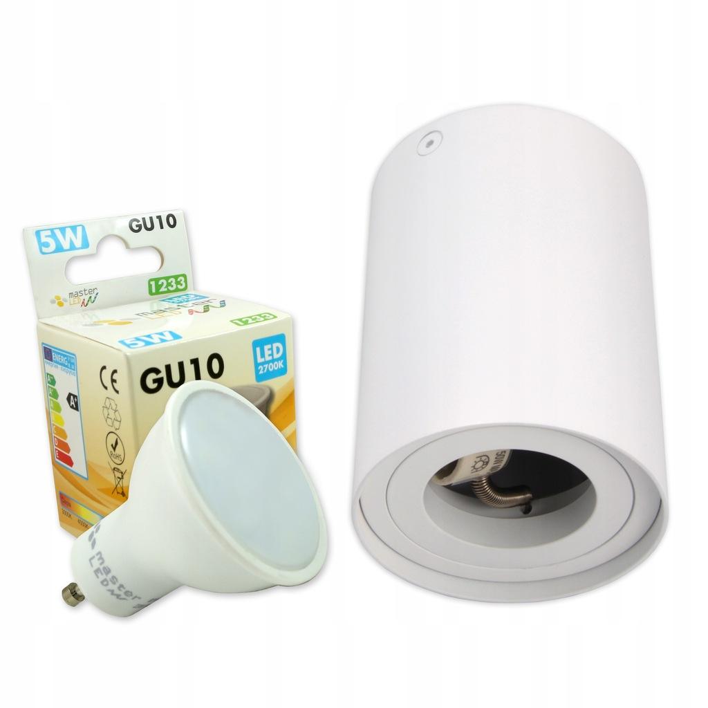 Zestaw oprawa halogenowa GU10 Żarówka LED 5W SPOT