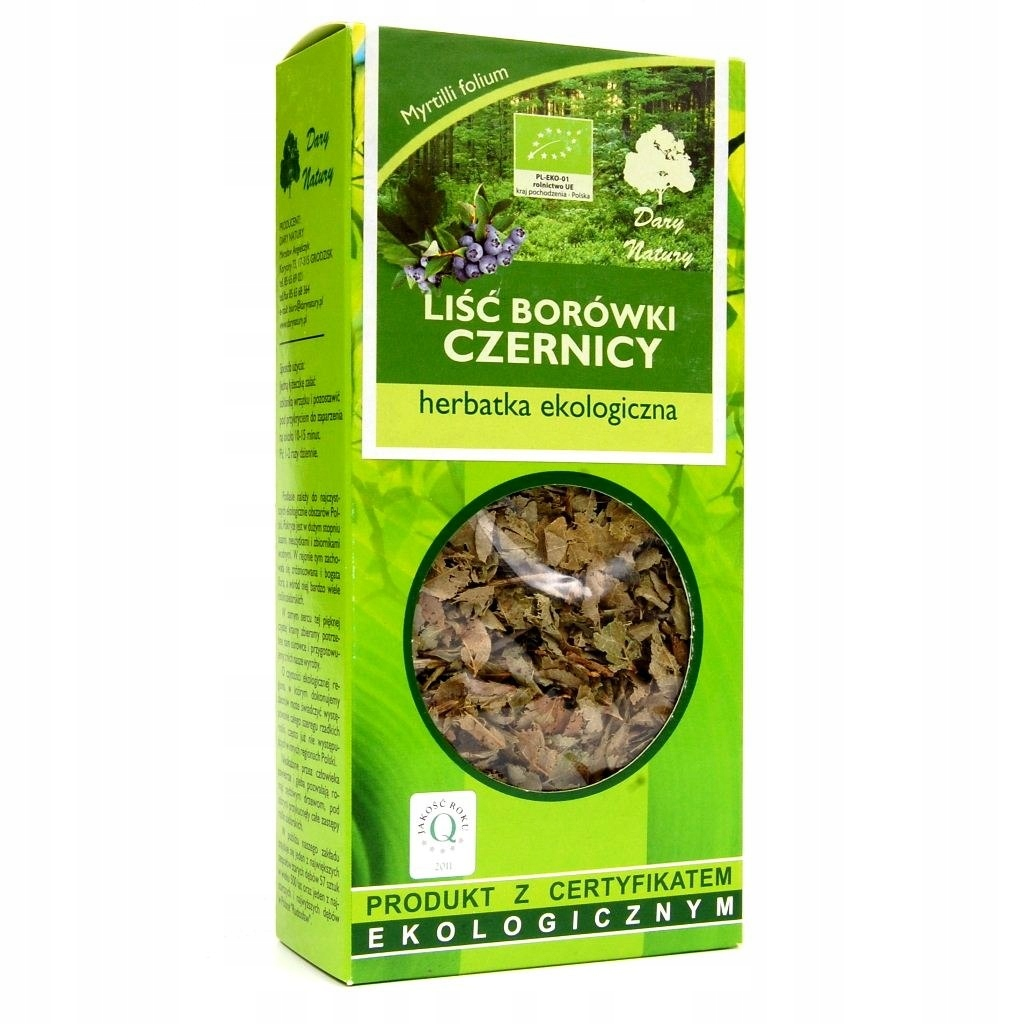 Borówka czernica liść BIO 25g DARY NATURY